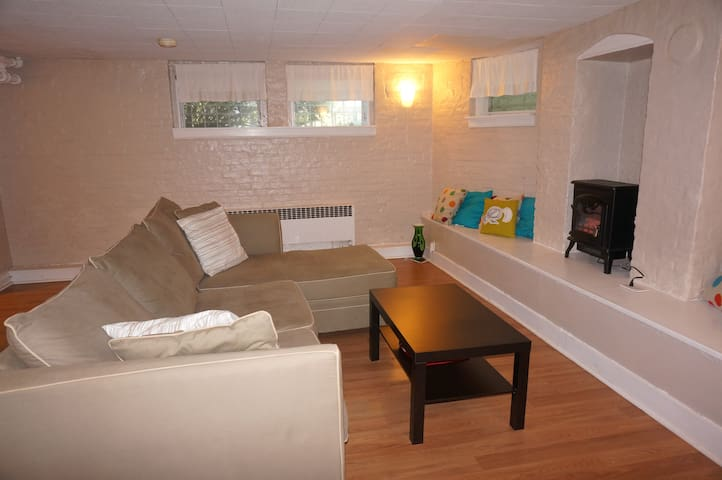 Spacious 1 bedroom apartment with private entrance