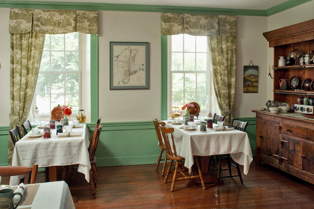 The dining room can be arranged to suite your group's needs