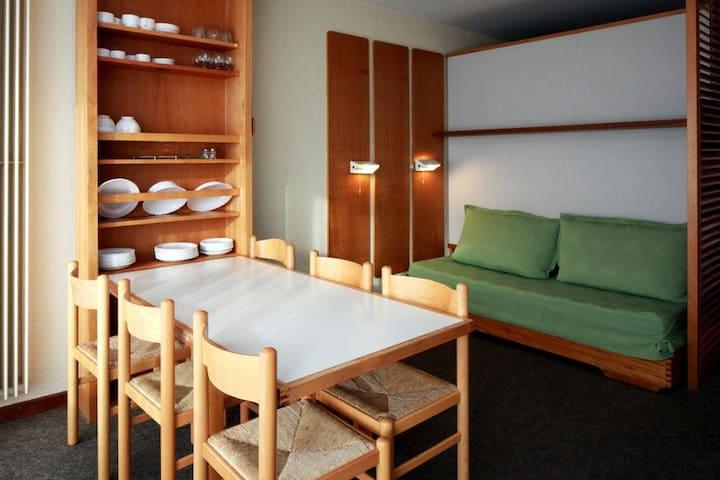 Studio équipé 4 pers. plein centre - 73120 Courchevel - Appartement
