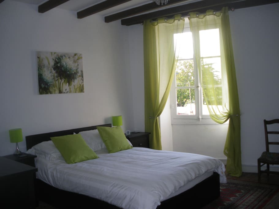 Fresh, modern room with hotel quality linen and towels and shower room en suite