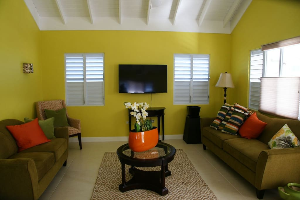 Relax in the living room or anywhere, it's central air-conditioned