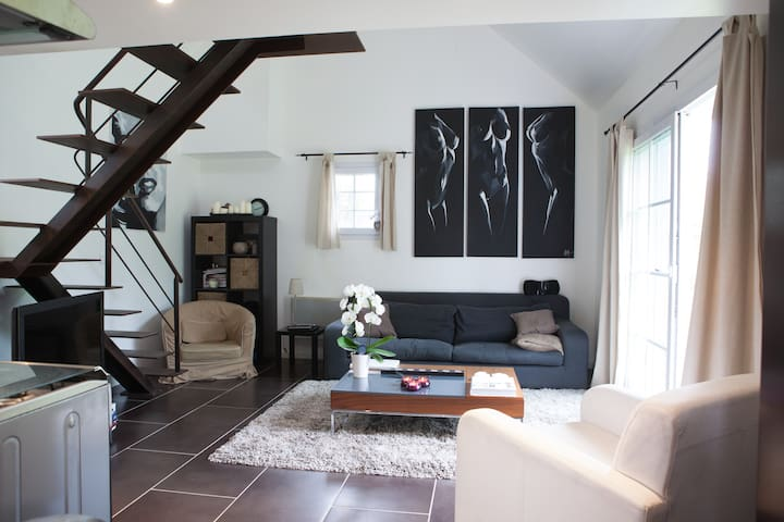 Duplex modern 30 minutes Paris