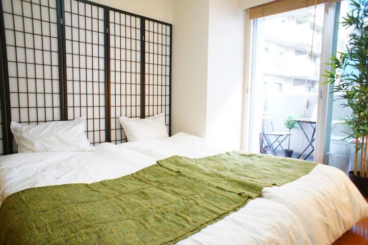【4min Sta】Japanese Style Room with Wood Balcony - Minato-ku