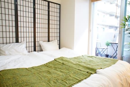 【4min Sta】Japanese Style Room with Wood Balcony - Minato-ku