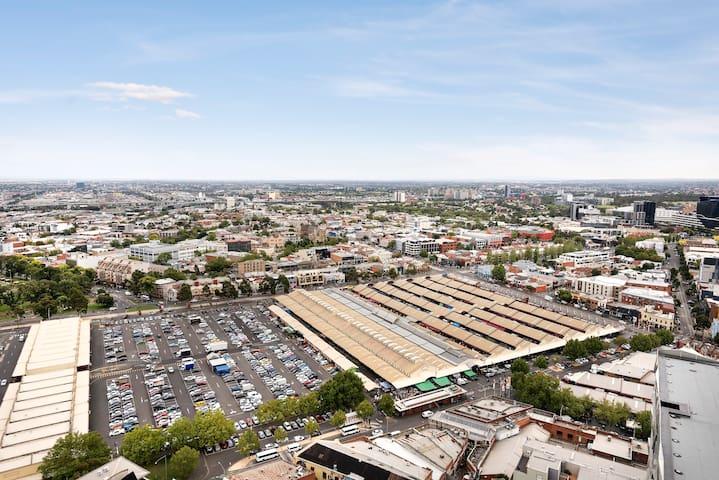 Great view toward Victoria market
