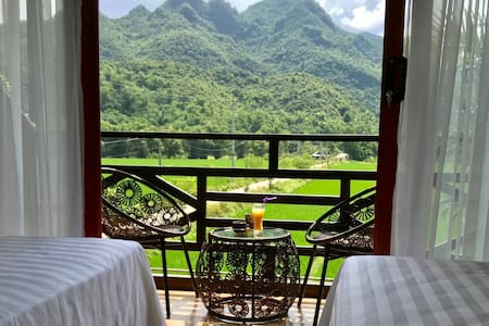 Private room with balcony mountain view
