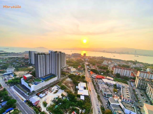 Luxurious Sunset Seaview Luminari Suite -Merveille