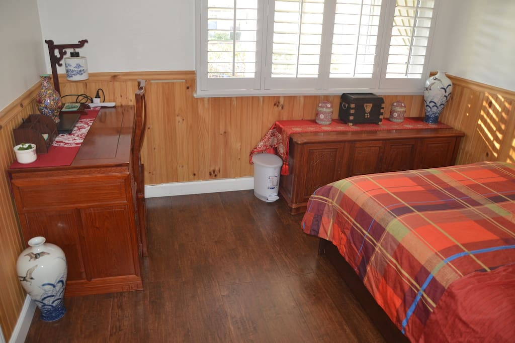 Your bedroom fully furnished, warm and comfortable.