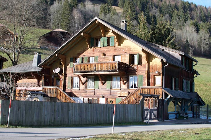 Apartment in typical Gstaad chalet