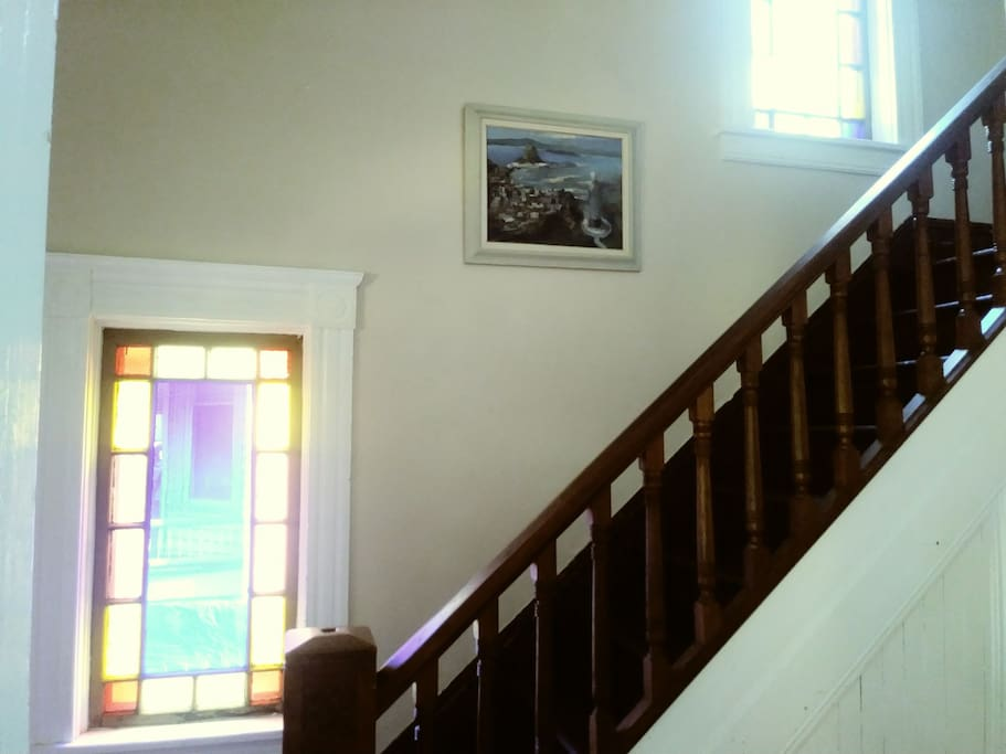 stairs to some of the bedrooms