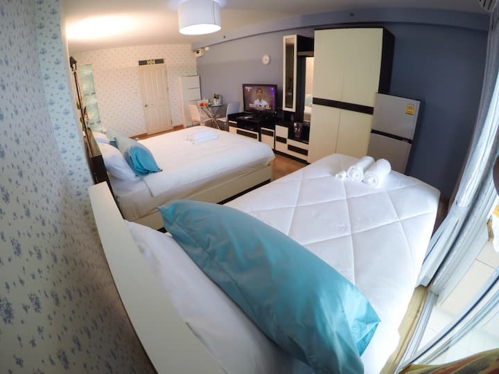 3 beds free wifi close BKK airport 15 minutes-3