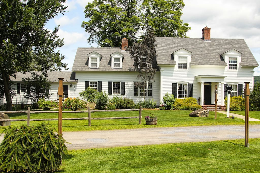 The 1824 House has 8 bedrooms, large flat lawns, a private swimming hole and access to a short recreational path.