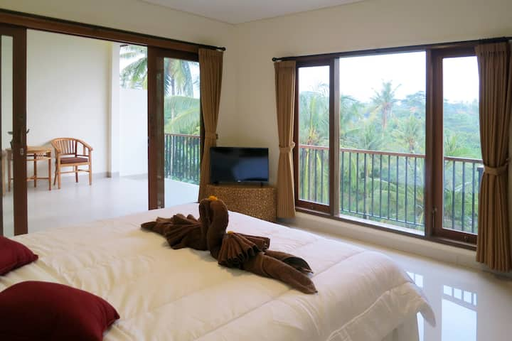 Ubud Studio Room, Sunrise&Jungle View & Affordable
