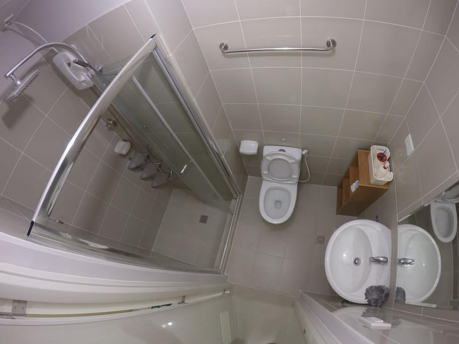 bathroom + water heater