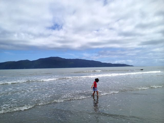"""The Little Peach at Raumati Beach"""