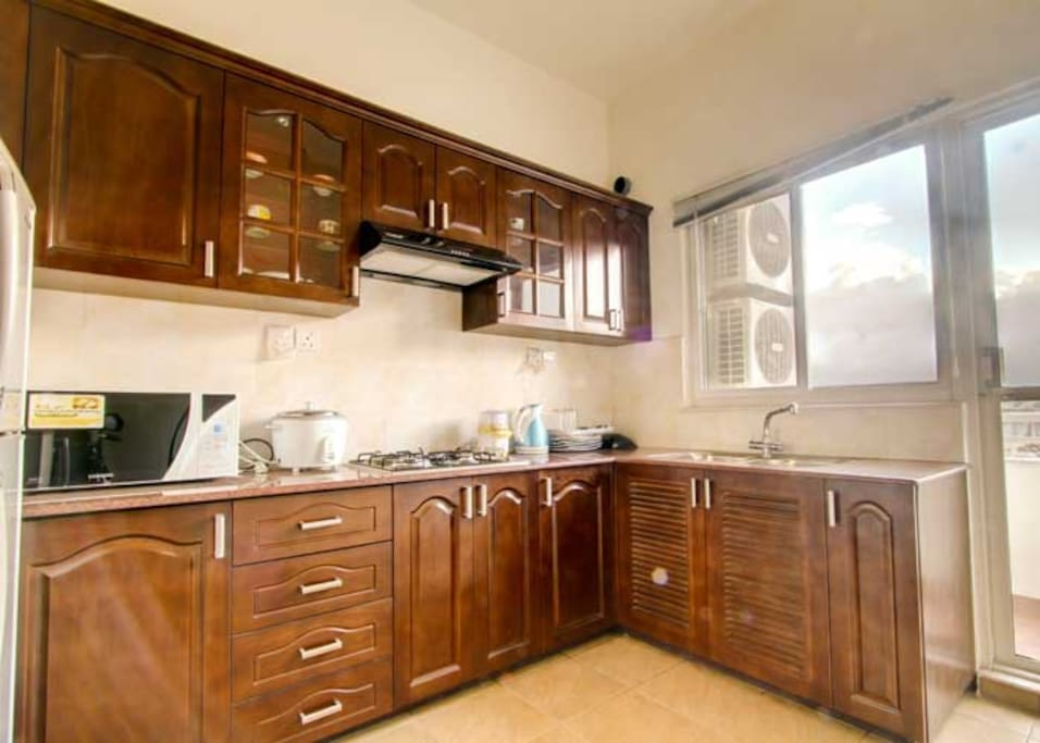 Fully equipped and convenient kitchen