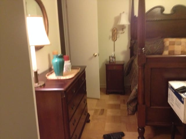 Master Bedroom and private bath - Reston - Flat