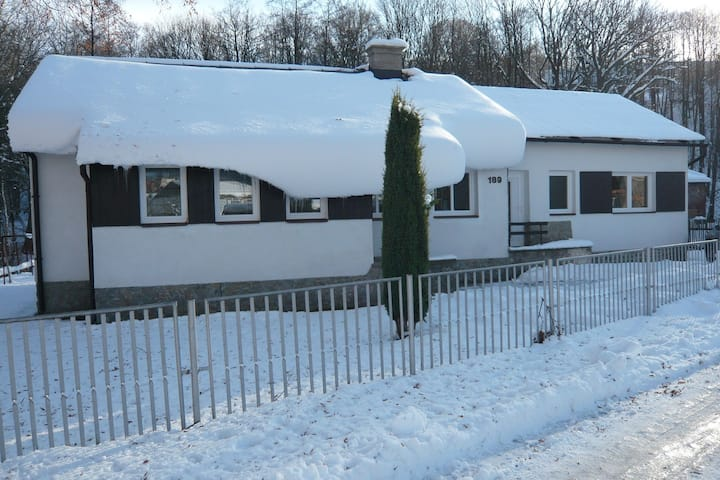 Serene Holiday Home in Mladé Buky with Private Pool, Trampoline & Skiing Nearby