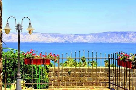 The apartment is located in Vila Alliance, a beautiful restored ancient house, that used as the first elementry school of Tiberias, more than a century ago. The vila is located at the old city of Tiberias, next to the Tiberias crusader castle.