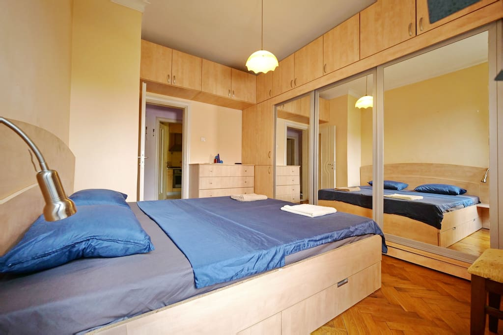 Spacious bedroom in shared apartment