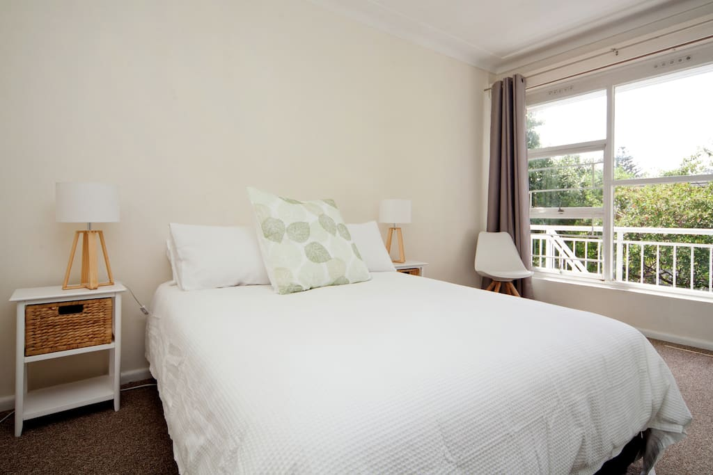 Spacious main bedroom. Baby cot can easily fit in this room. Wardrobes are more than generous in size and exclusive for guest use only!