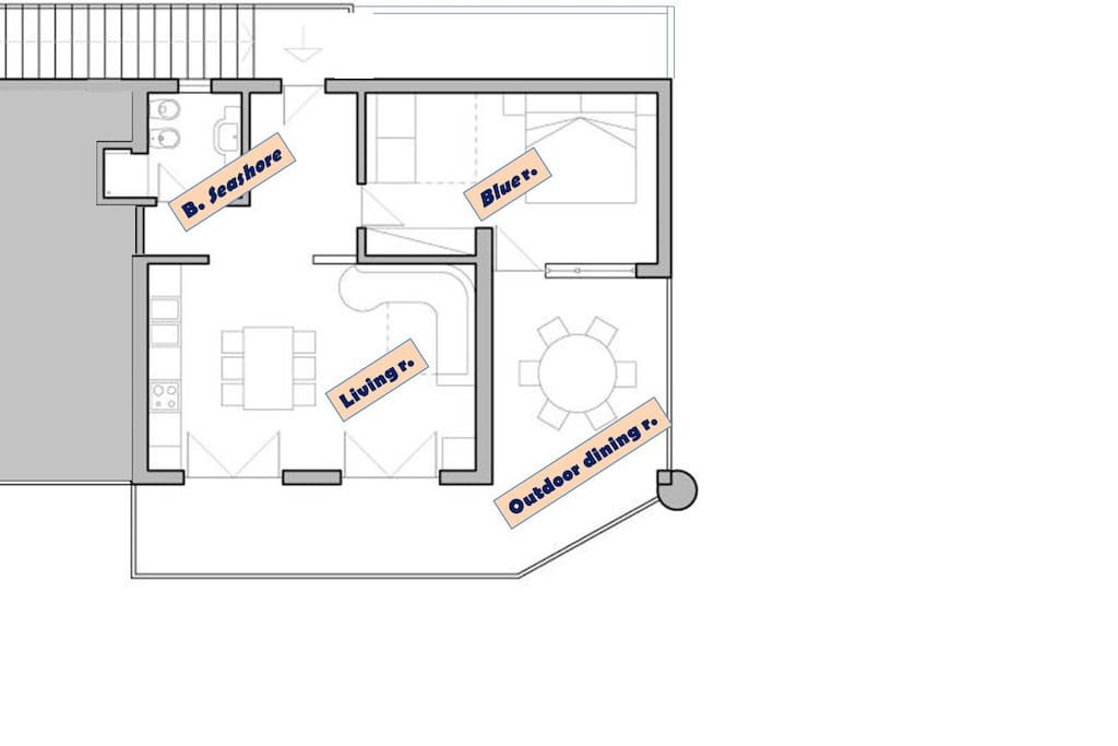 Disposition of the rooms