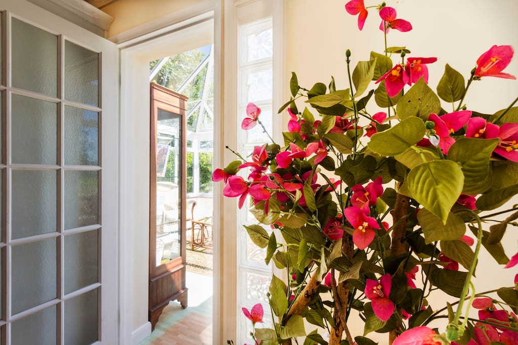 French door from kitchen diner to sun lounge