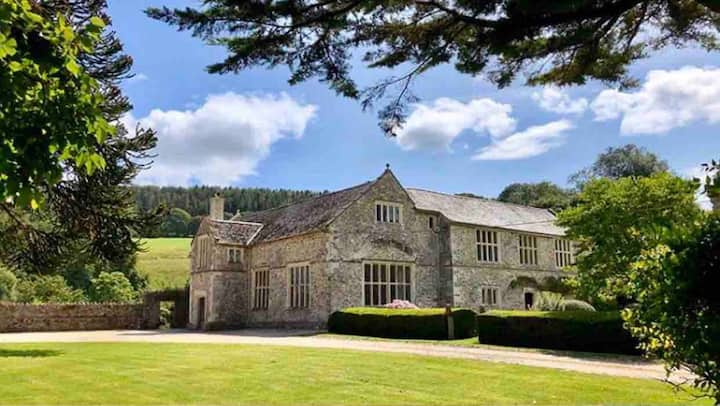 BIG MANOR HOUSE-  Devon ! Slps 14. Woodland, pool