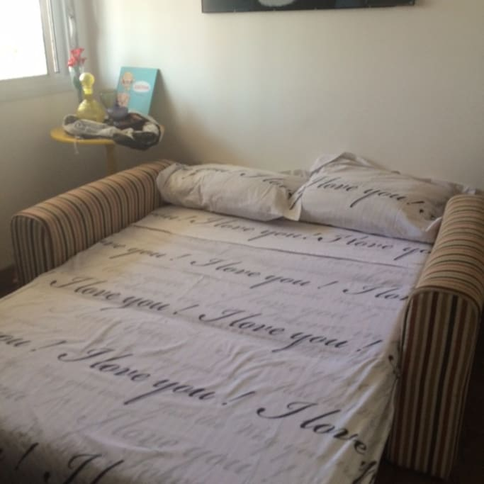 Quarto confortável para 1 pessoa ou casal