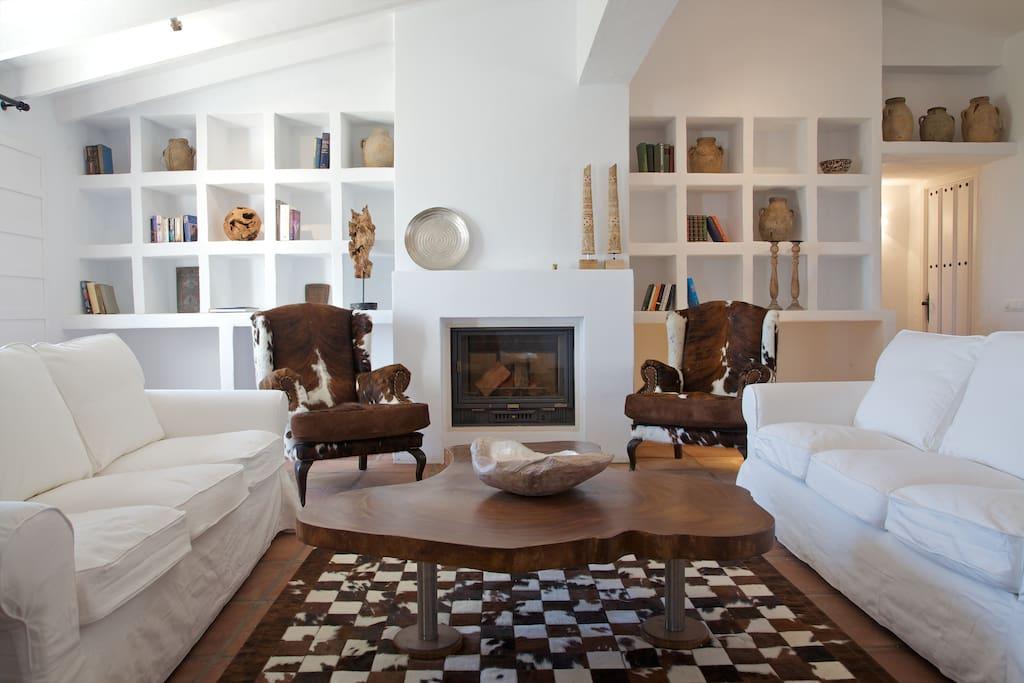 Cozy, contemporary open plan living.