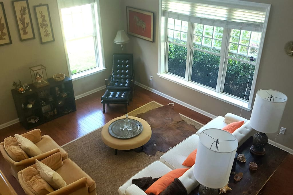 Enjoy our mid-century living room