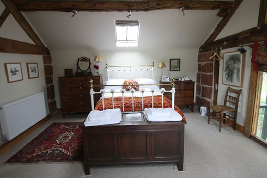 Gallery Bedroom with Victorian brass bed
