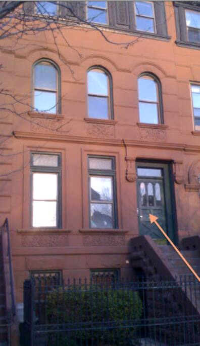 Front of brownstone from the street