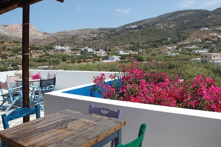 Village apartment with sea view - Syros Island