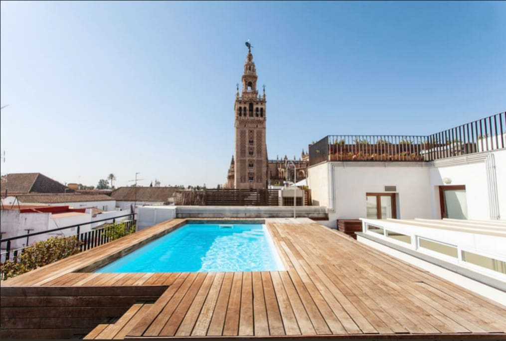 Fantastic Apart Pool Giralda View Flats For Rent In Seville Andalusia Spain