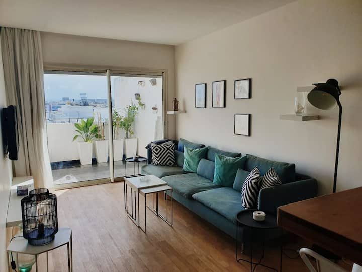 Cosy apartment with panoramic view  of Casa Maarif