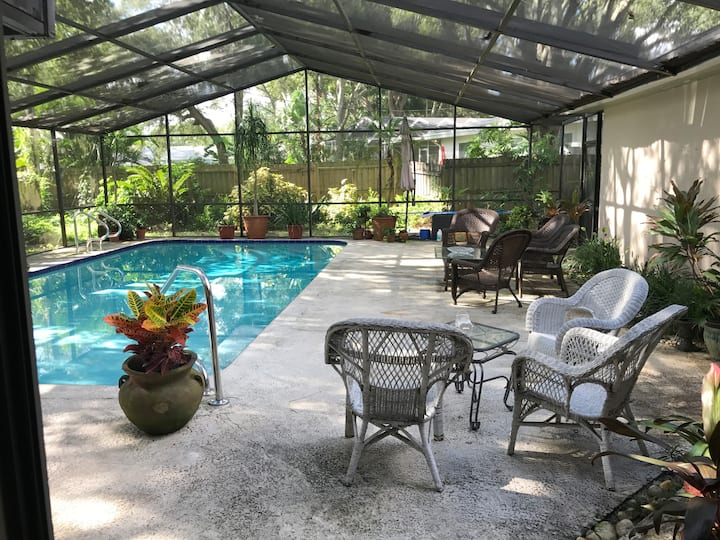 Classic Florida Private Home with screened in pool