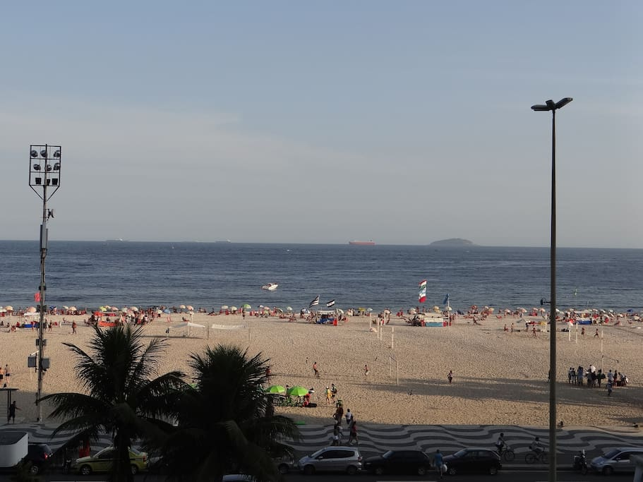 Vista Panoramica da Sala de Estar- Do Leme a Copacabana!!
