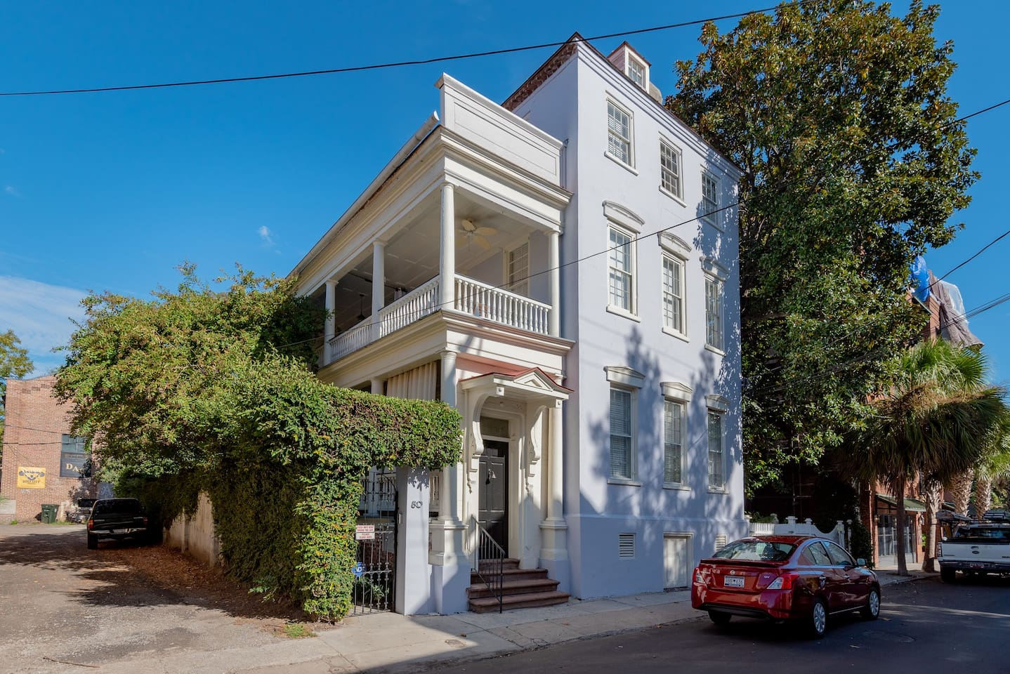 The condo is located on the second floor of this historic building in the heart of downtown Charleston.  Conveniently located steps from restaurants and shops.