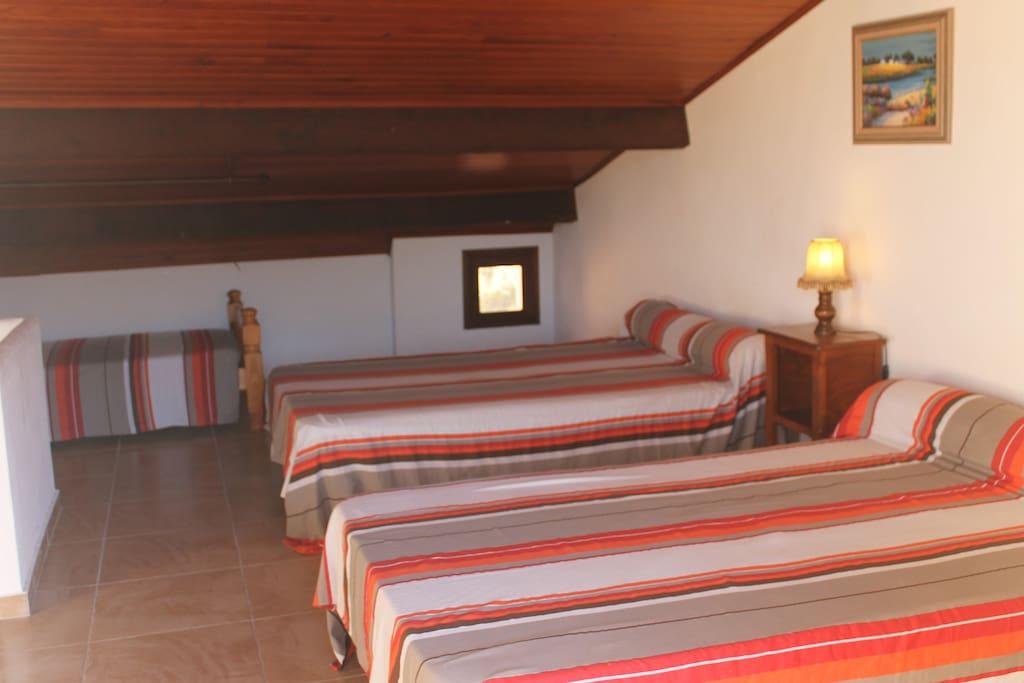 La chambre Triple à l'étage
