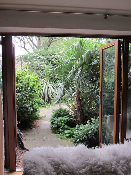 Living space opens out onto garden