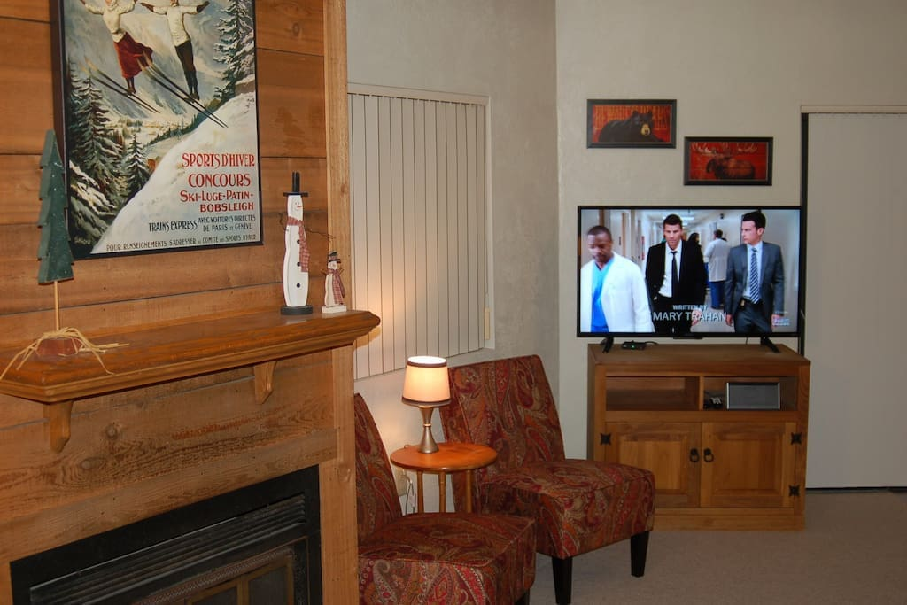 Wi-Fi and two TV's.