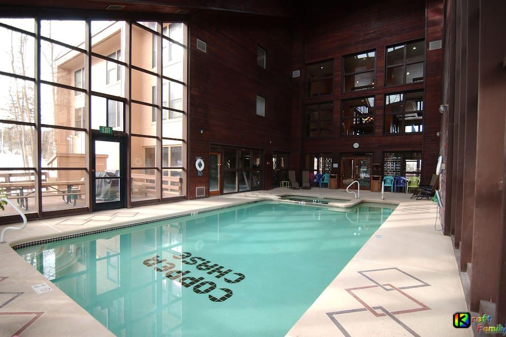 Solarium pool/Jacuzzi with adjacent fitness center (Alternate View)