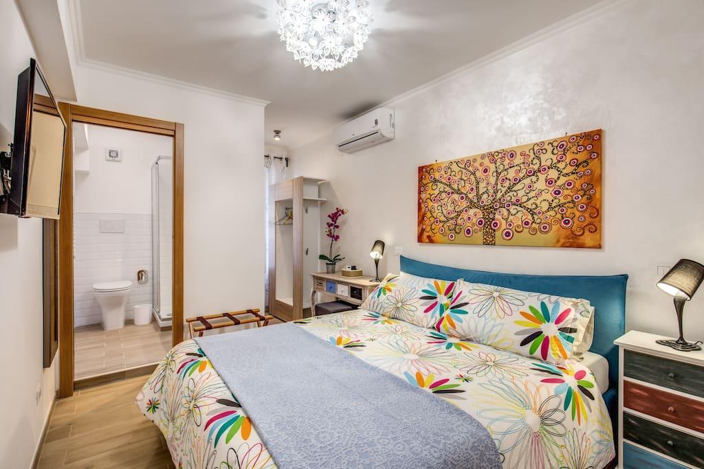 Retro 39 room doppia vaticano 2pax appart 39 h tels louer for Appart hotel pas cher rome