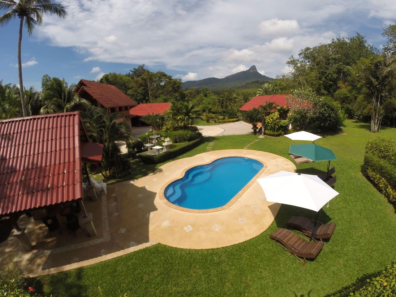 cliffside lagoon zipline villa yoga villas for rent in ao nang