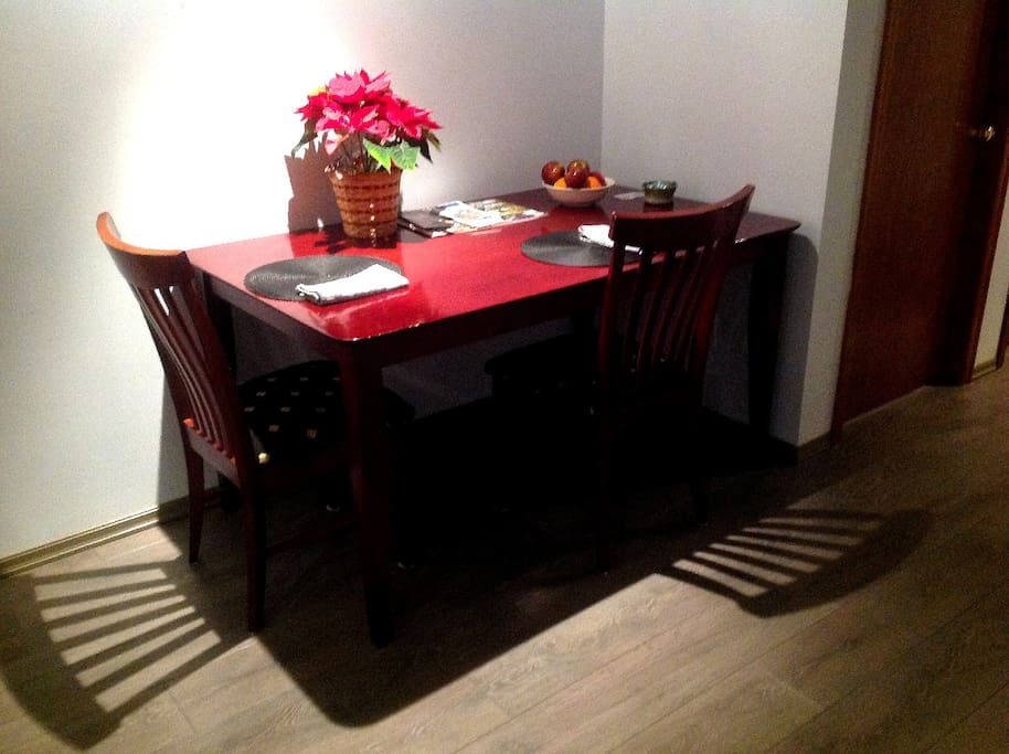 Dining area or computer section.
