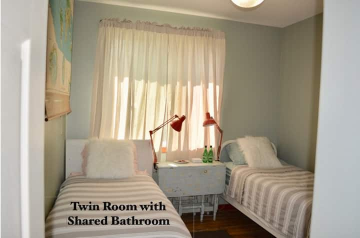 Wood You Drift on Inn Two Twins Shared Bathroom