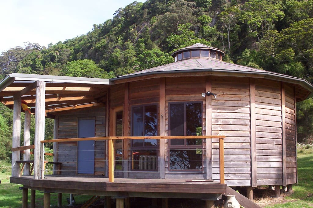 Large secluded deck to relax on, including a hammock.