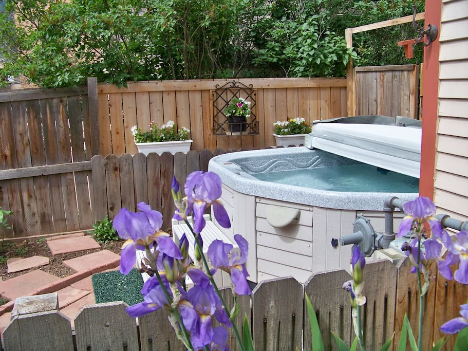 Three-Person Hot Tub in the back gardens