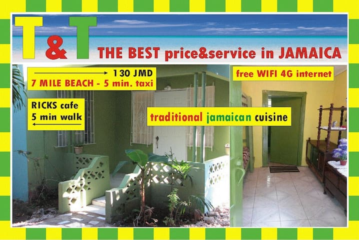 THE BEST PRICE, SERVICE & LOCATION - Negril - Daire